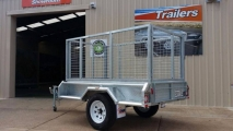 7x4 Cage Trailer Side